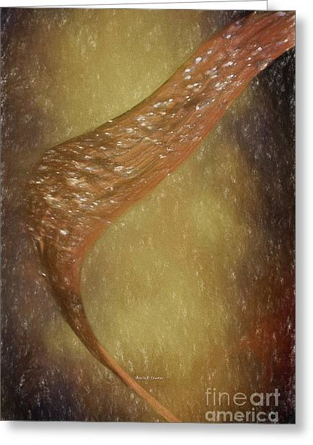 Colors Of Autumn Drawings Greeting Cards - A Blade of Autumn Leaf Greeting Card by Angela A Stanton