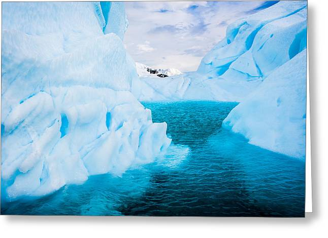 Frozen Greeting Cards - A Blue Lagoon Greeting Card by Duane Miller