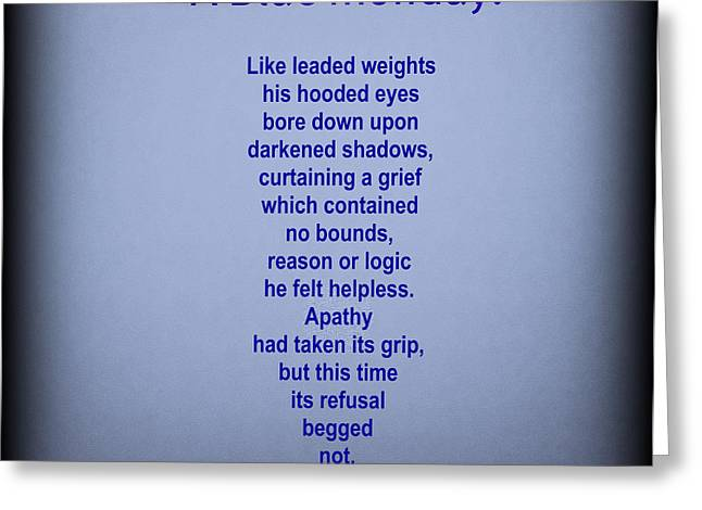 Apathy Greeting Cards - A Blue Monday Greeting Card by AMY Whimsicalworks
