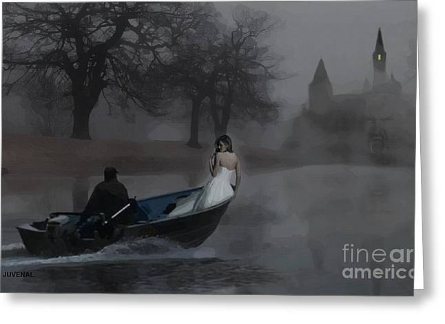 Innocence Greeting Cards - A Boat in the Fog Greeting Card by Joseph Juvenal