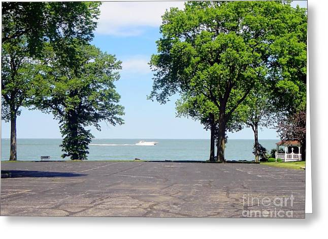 A Boat Ride At Marblehead Greeting Card by Jackie Bodnar
