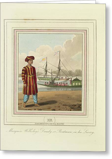 A Boatman Greeting Card by British Library