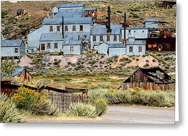 Mining Photos Digital Greeting Cards - A Bodie View From Above Greeting Card by Joseph Coulombe