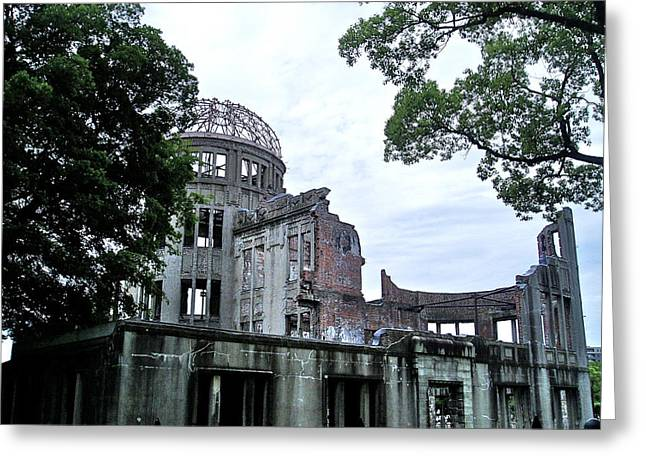 Hiroshima Peace Memorial Greeting Cards - A-bomb Dome II Greeting Card by Duomo Photography