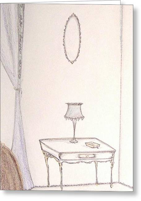 Art Book Pastels Greeting Cards - A Bookish Corner Greeting Card by Christine Corretti