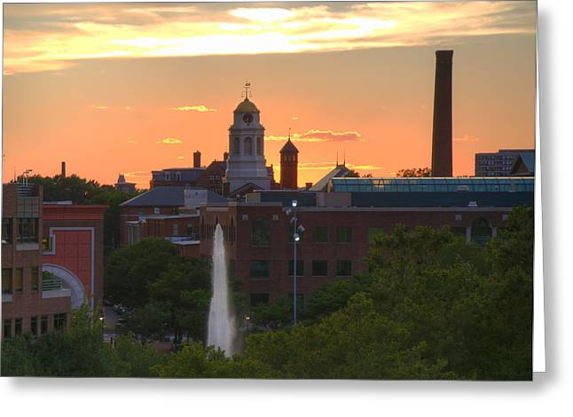 Canal Park Greeting Cards - Sunset over Bulfinch Square - Cambridge Greeting Card by Joann Vitali