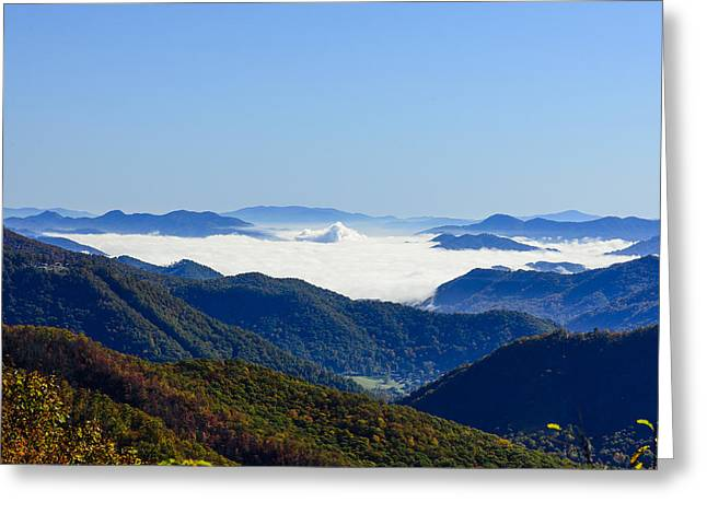 Mountain Road Greeting Cards - A Bowl of Clouds Greeting Card by Steve Samples