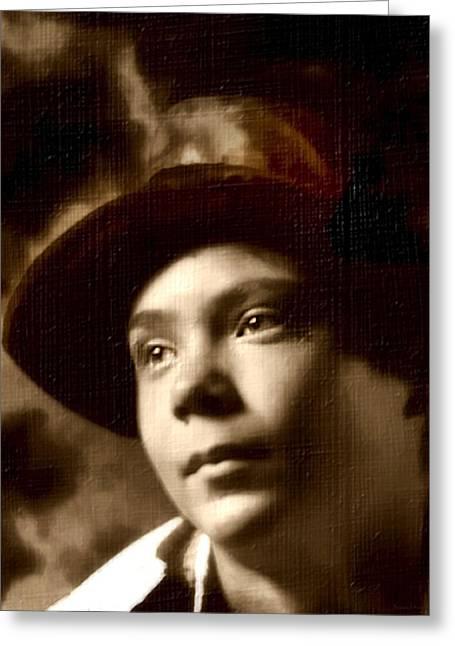 D.w. Digital Art Greeting Cards - A Boy Has Dreams Greeting Card by Barbara D Richards