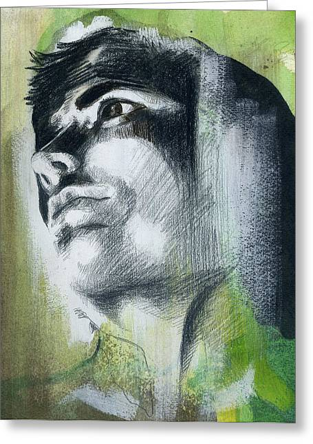 Homoerotic Paintings Greeting Cards - A Boy Named Persistence Greeting Card by Rene Capone