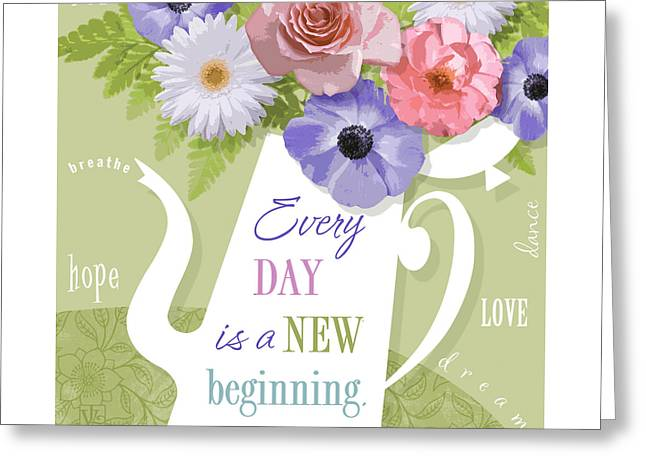 A Brand New Day Greeting Card by Valerie Drake Lesiak