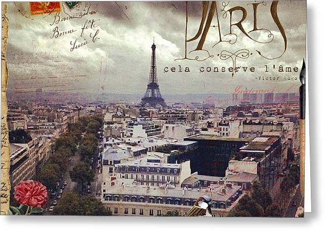 Commercial Photography Mixed Media Greeting Cards - A Breath Of Paris Greeting Card by Sandy Lloyd