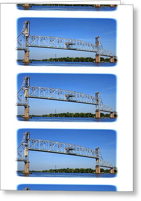 Roadway Greeting Cards - A Bridge Opening Greeting Card by Olivier Le Queinec