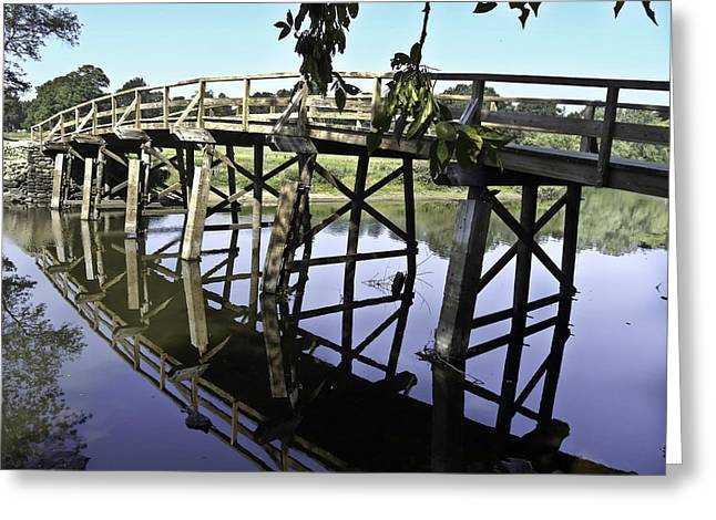 Concord Greeting Cards - A Bridge Over troubled Waters Greeting Card by Danny Vaughn