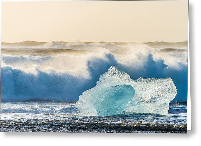 A Brief Respite - Iceland Coast Photograph Greeting Card by Duane Miller