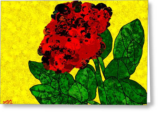 Rosette Paintings Greeting Cards - A Bright Red Rose for My Honey Greeting Card by Bruce Nutting