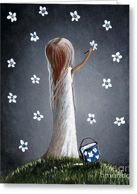 Whimsical Paintings Greeting Card by Shawna Erback