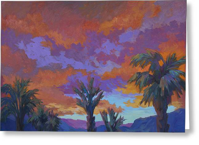 Mirage Greeting Cards - A Brilliant Sunrise Greeting Card by Diane McClary