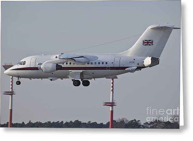 Private Jet Greeting Cards - A British Aerospace 146 Jet Greeting Card by Timm Ziegenthaler