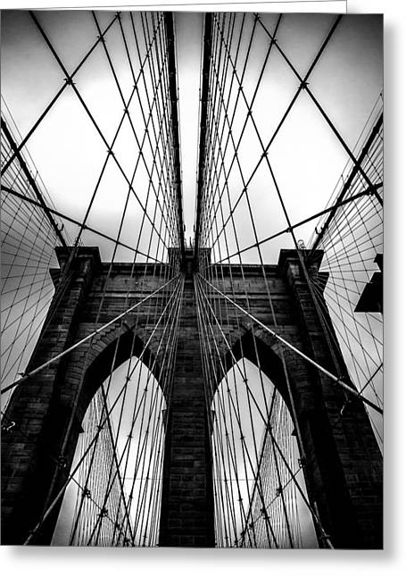Moody Greeting Cards - A Brooklyn Perspective Greeting Card by Az Jackson