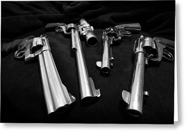 44 Magnum Greeting Cards - A Buck 76 Greeting Card by David Andersen