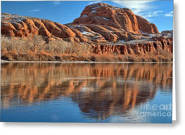 Southern Utah Greeting Cards - A Bump In The Green River Greeting Card by Adam Jewell
