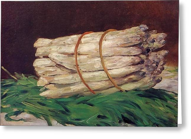 Produce Digital Art Greeting Cards - A Bunch Of Asparagus Greeting Card by Edouard Manet