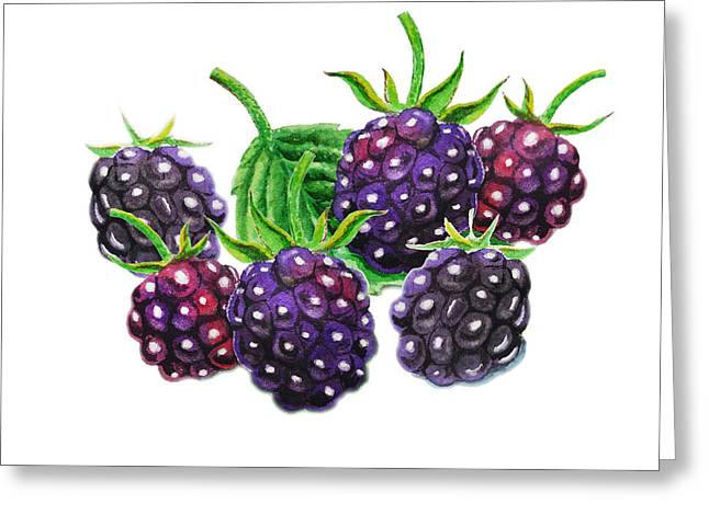 Purchase Greeting Cards - A Bunch Of Blackberries Greeting Card by Irina Sztukowski