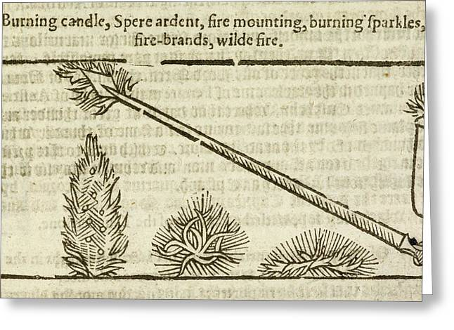 A Burning Spear And Candle Greeting Card by British Library