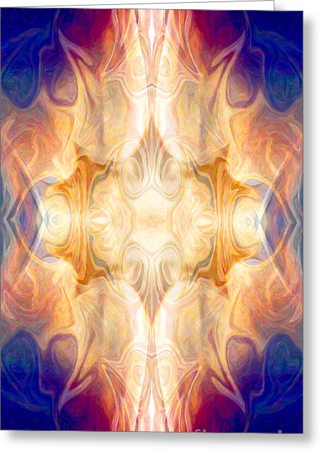 Owfotografik Greeting Cards - A Burst Of Light Abstract Living Artwork by Omaste Witkowski Greeting Card by Omaste Witkowski