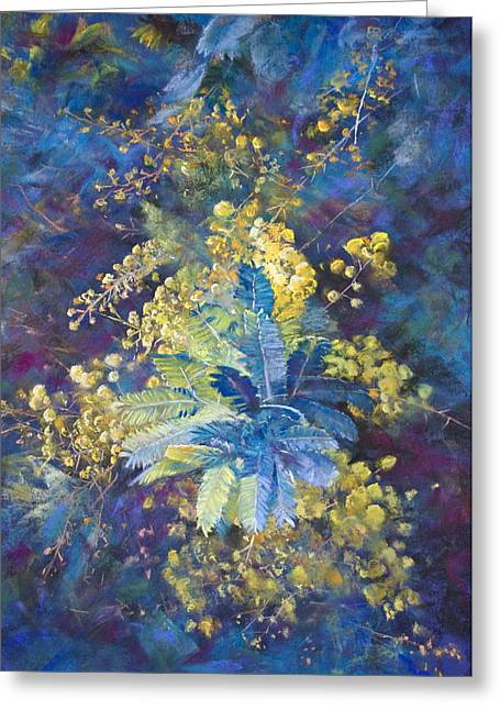 Australia Pastels Greeting Cards - A Burst of Spring Greeting Card by Lynda Robinson