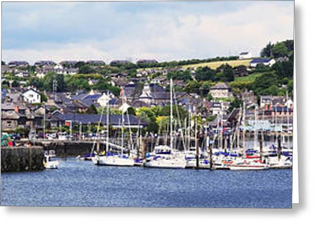 Docked Boats Greeting Cards - A Busy Harbour And Waterfrontkinsale Greeting Card by Peter Zoeller