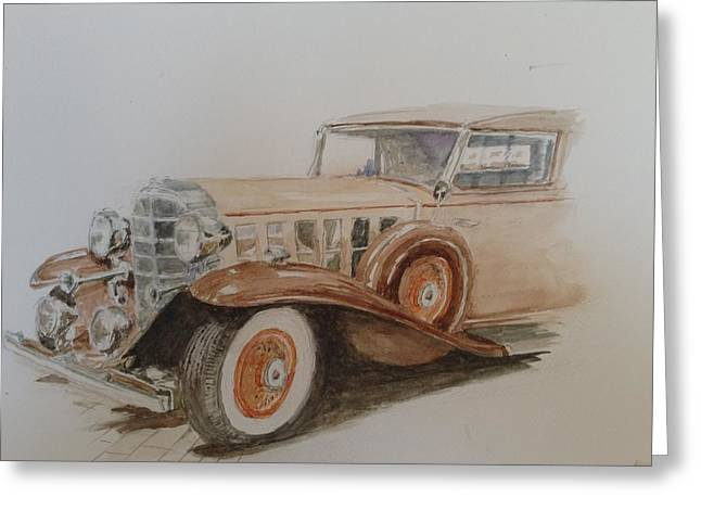 Caddy Paintings Greeting Cards - A caddy for you Greeting Card by Don Schroeder