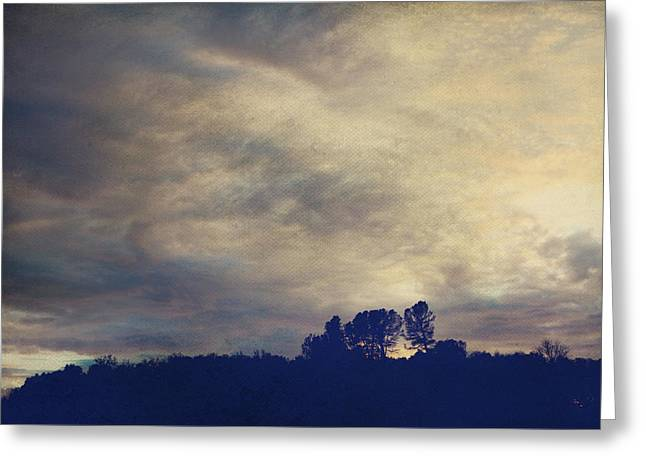 Storm Clouds Digital Art Greeting Cards - A Calm Sets In Greeting Card by Laurie Search