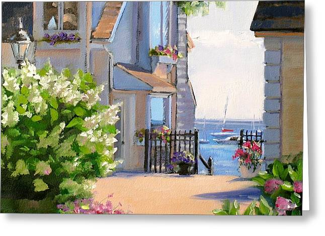 Boat On Water Greeting Cards - A Cape Cod Paradise Greeting Card by Laura Lee Zanghetti