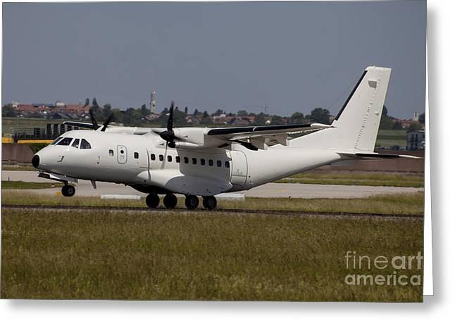 First-class Greeting Cards - A Casa Cn-235 Aircraft Under Contract Greeting Card by Timm Ziegenthaler