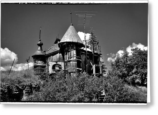 Junk Greeting Cards - A Castle in Palouse Country Greeting Card by David Patterson