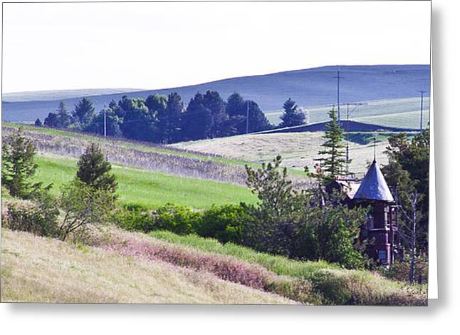 Junk Greeting Cards - A Castle in the Palouse Greeting Card by David Patterson