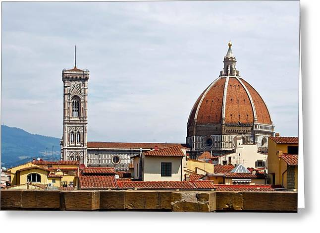 Florence Greeting Cards - A Cathedral in Florence Greeting Card by Mountain Dreams