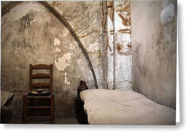 Matin Greeting Cards - A cell in La Conciergerie de Paris Greeting Card by RicardMN Photography