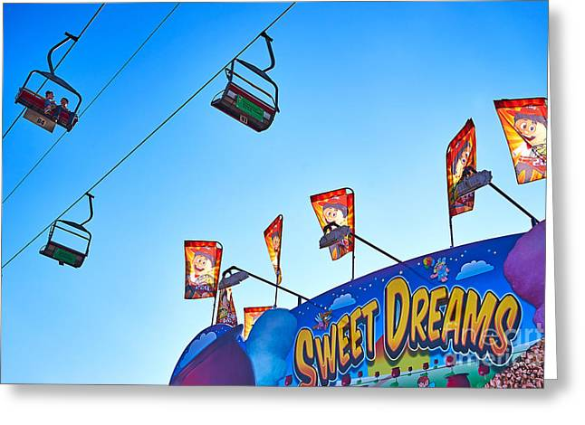 Arizona State Fair Greeting Cards - A Chairlift Ride to Sweet Dreams Greeting Card by Matt Suess