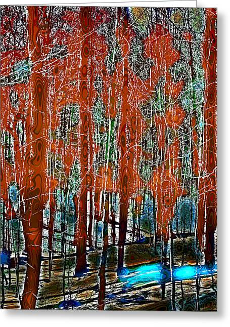 Surreal Landscape Greeting Cards - A Change in the Seasons III Greeting Card by David Patterson