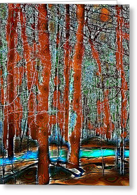 Surreal Landscape Greeting Cards - A Change in the Seasons IV Greeting Card by David Patterson