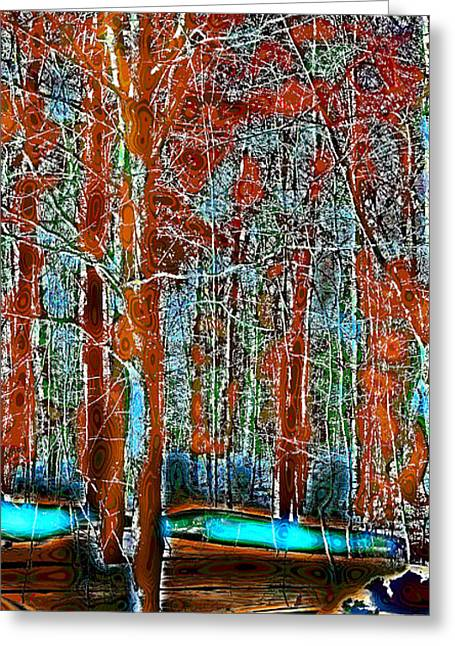Surreal Landscape Greeting Cards - A Change in the Seasons V Greeting Card by David Patterson