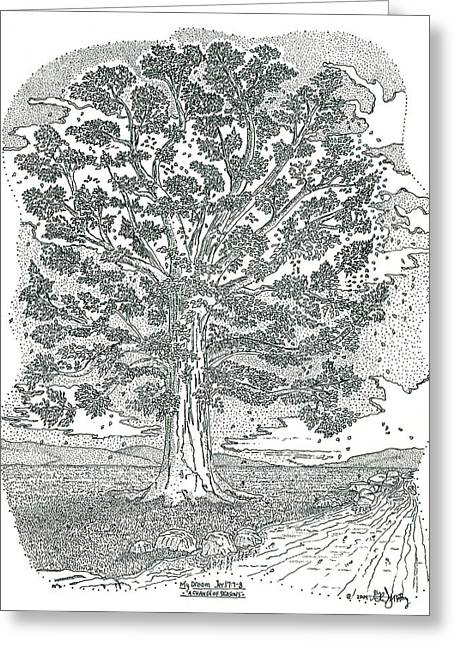 Scripture Drawings Greeting Cards - A Change Of Seasons Greeting Card by Glenn McCarthy Art and Photography