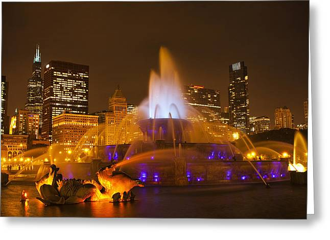 A Chicago Twilight Greeting Card by Andrew Soundarajan