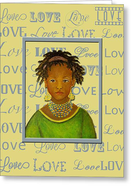 The Art With A Heart Greeting Cards - A Childs Whispers Of Love Greeting Card by The Art With A Heart By Charlotte Phillips