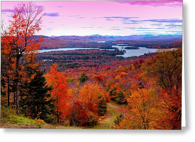 A Chilly Autumn Day On Mccauley Mountain Greeting Card by David Patterson