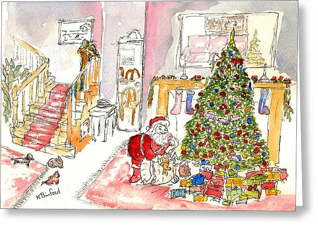 Chrismas Greeting Cards - A Christmas Peak Greeting Card by Wade Binford