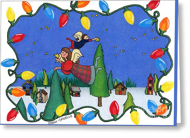 A Christmas Scene Greeting Card by Sarah Batalka