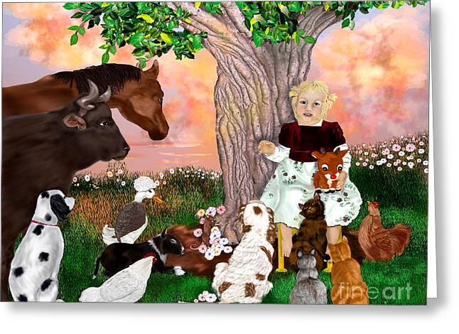 Rudolph Digital Art Greeting Cards - A Christmas Story In July Greeting Card by Sydne Archambault